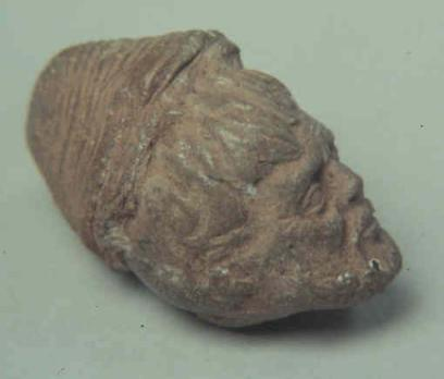 Terracotta head found in Mexico.